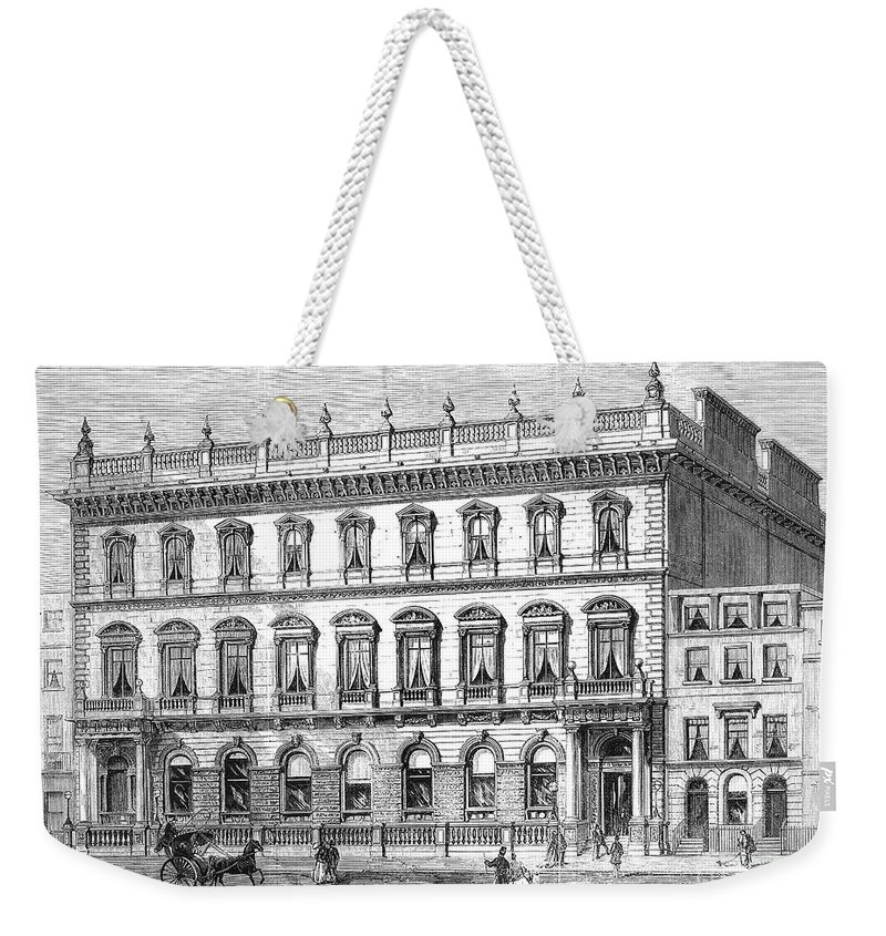 1868 Weekender Tote Bag featuring the photograph London: Carlton Club, 1868 by Granger