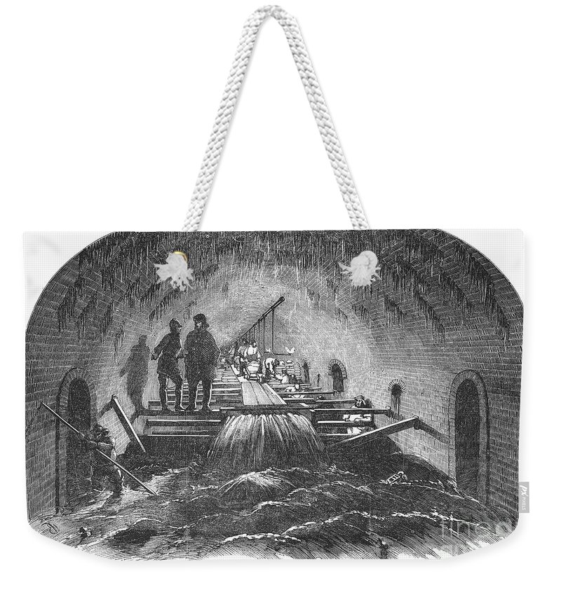 1854 Weekender Tote Bag featuring the photograph London: Fleet Street Sewer by Granger