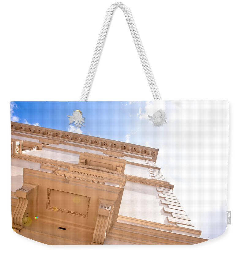 Affluence Weekender Tote Bag featuring the photograph London House by Tom Gowanlock