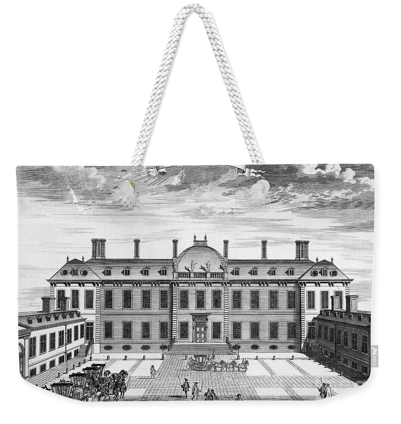 1714 Weekender Tote Bag featuring the photograph London: Montagu House by Granger