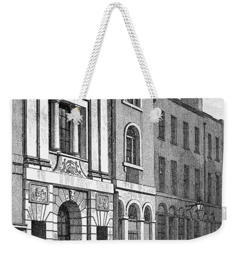 1830 Weekender Tote Bag featuring the photograph London: Watermans Hall by Granger
