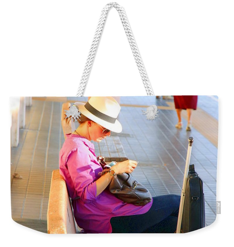 Lone Weekender Tote Bag featuring the photograph Lone Traveler by Valentino Visentini