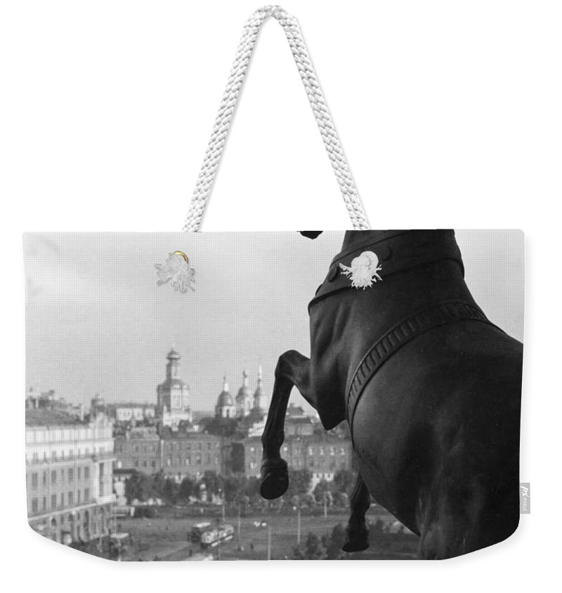 Sverdlov Square Weekender Tote Bag featuring the photograph Looking Down On The Sverdlov Square by Maynard Owen Williams