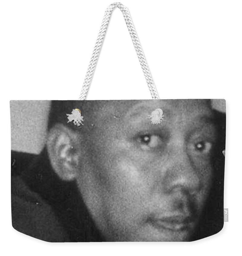 Weekender Tote Bag featuring the photograph Lorenzo Walker by Angela L Walker