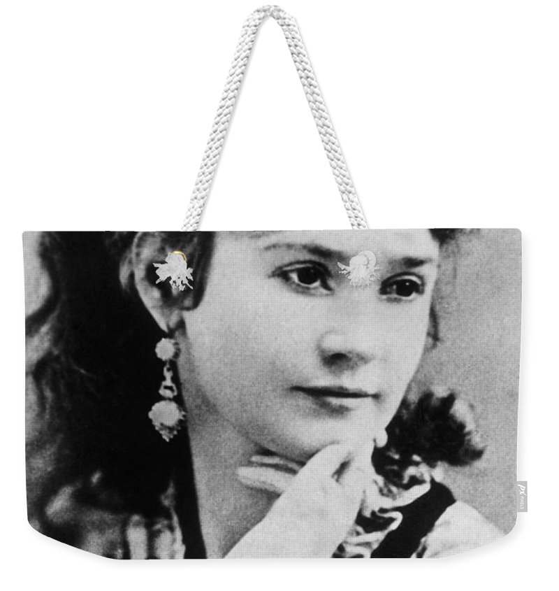 19th Century Weekender Tote Bag featuring the photograph Lotta Crabtree (1847-1924) by Granger