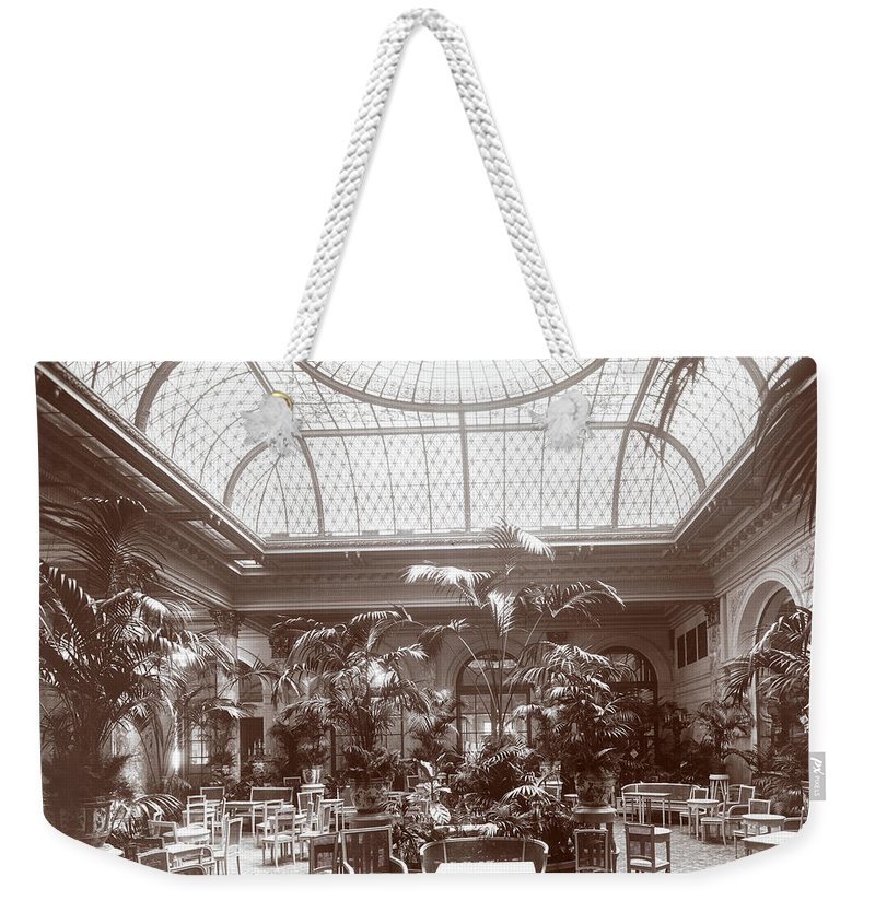 Lounge At The Plaza Hotel Weekender Tote Bag featuring the photograph Lounge At The Plaza Hotel by Henry Janeway Hardenbergh