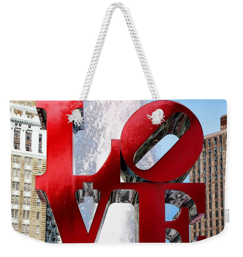Love Sculpture Weekender Tote Bag featuring the photograph Love by Andrew Fare