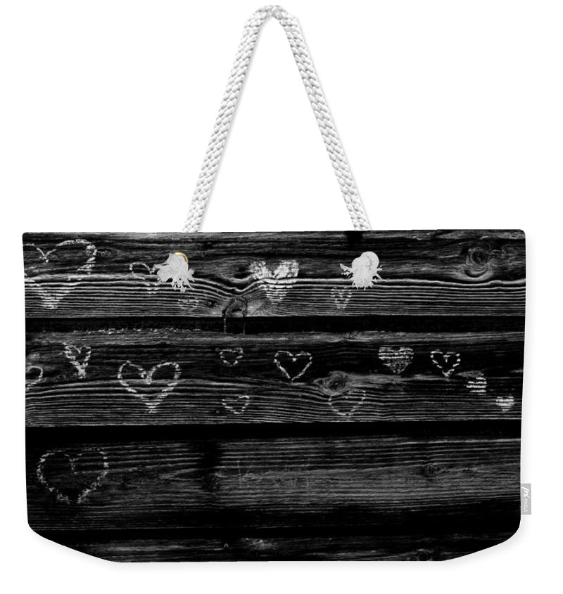Black And White Weekender Tote Bag featuring the photograph Love by Michele Nelson