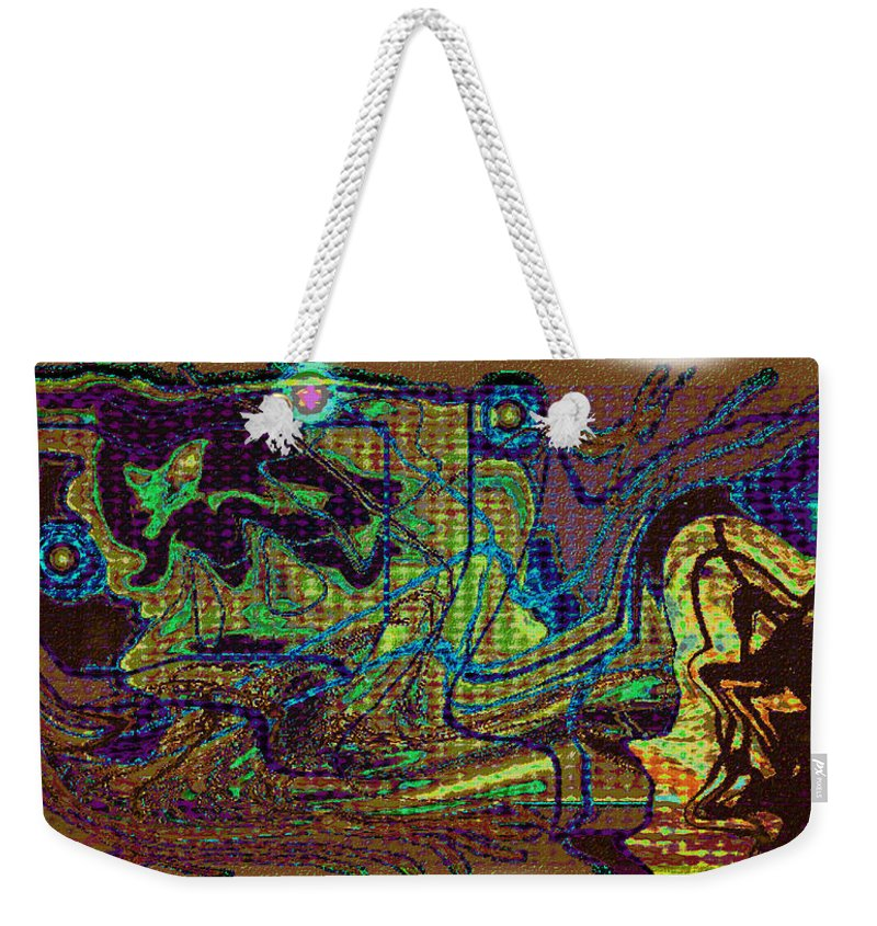 Abstract Design Weekender Tote Bag featuring the digital art Digital Picture Lp55 by Oleg Trifonov