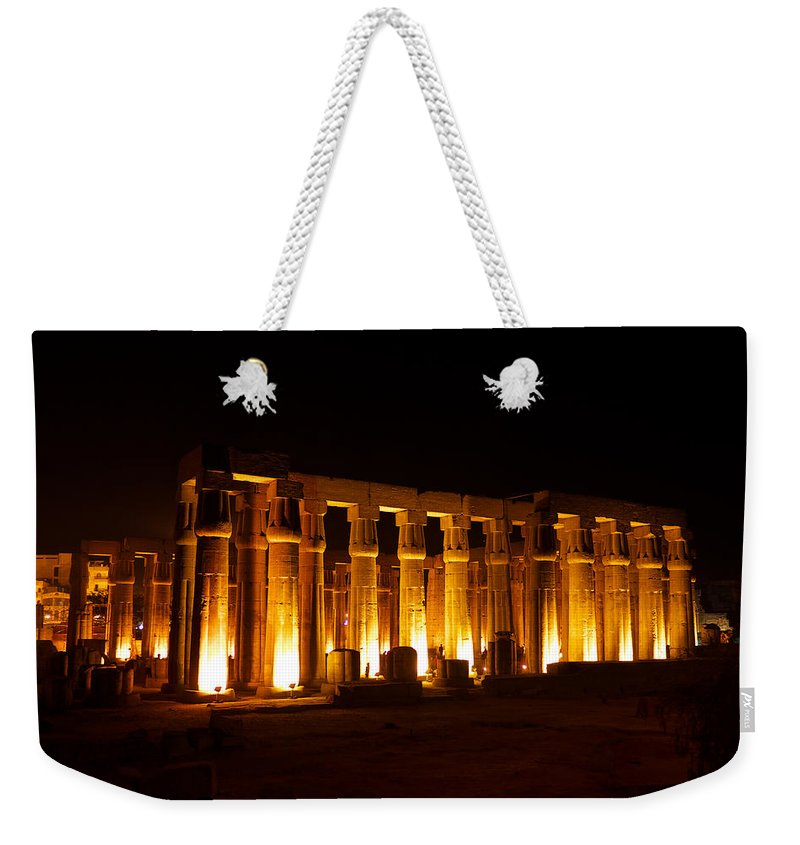 Luxor Weekender Tote Bag featuring the photograph Luxor by Ivan Slosar