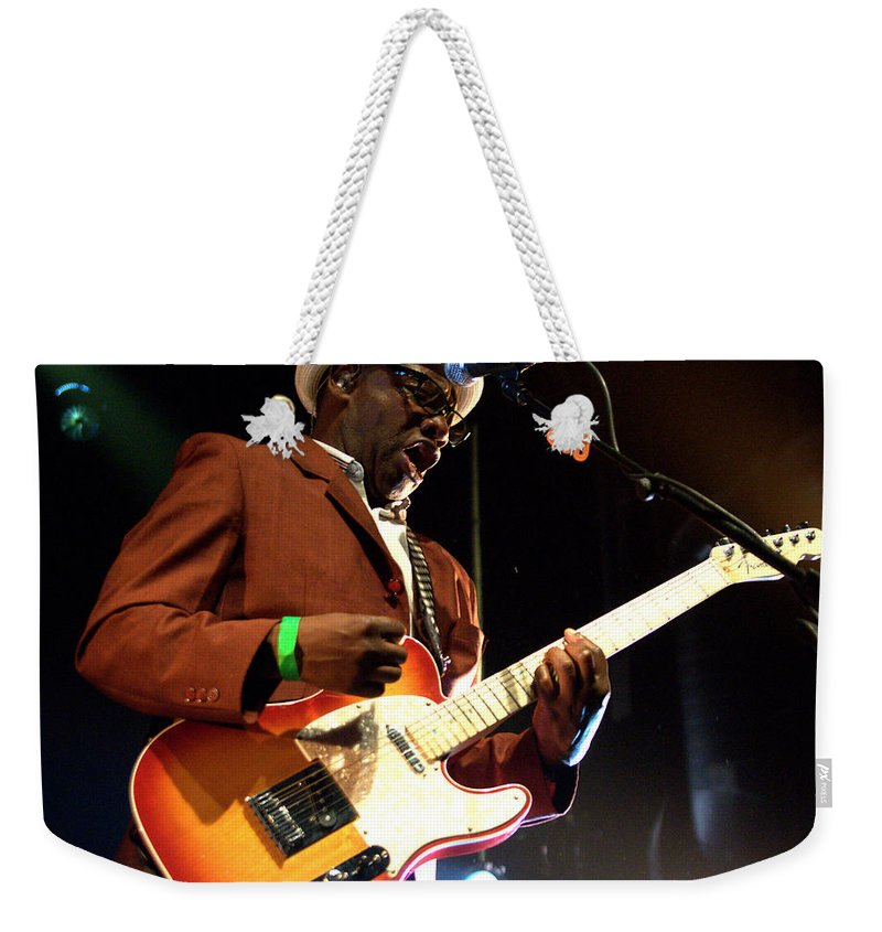 Jeff Ross Weekender Tote Bag featuring the photograph Lynval Golding-the Specials by Jeff Ross