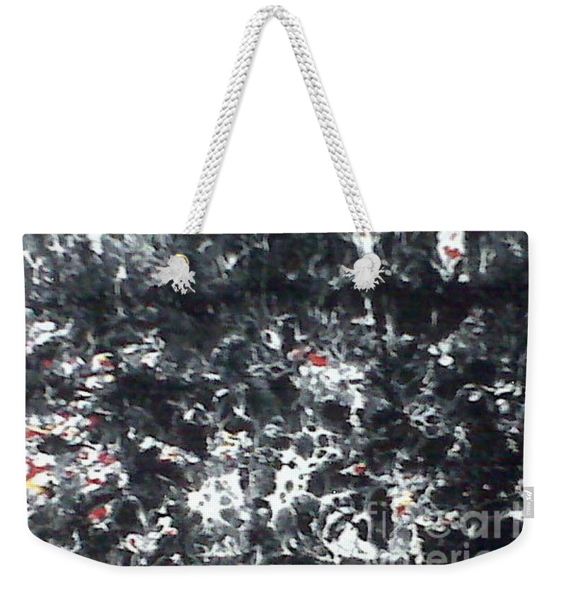 Passage Weekender Tote Bag featuring the painting Maafa 2000 by Meroe Rei