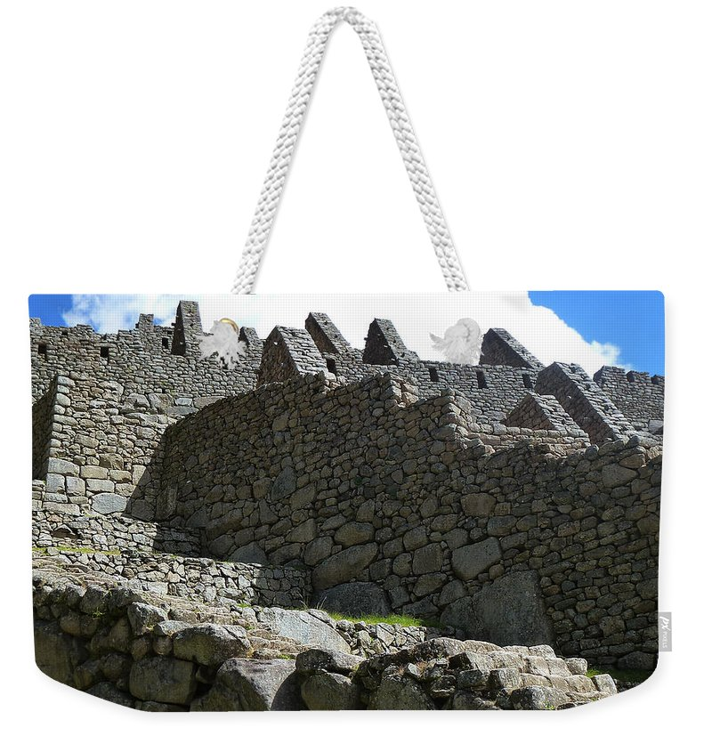 Peru Weekender Tote Bag featuring the photograph Machu Picchu Peru 12 by Xueling Zou