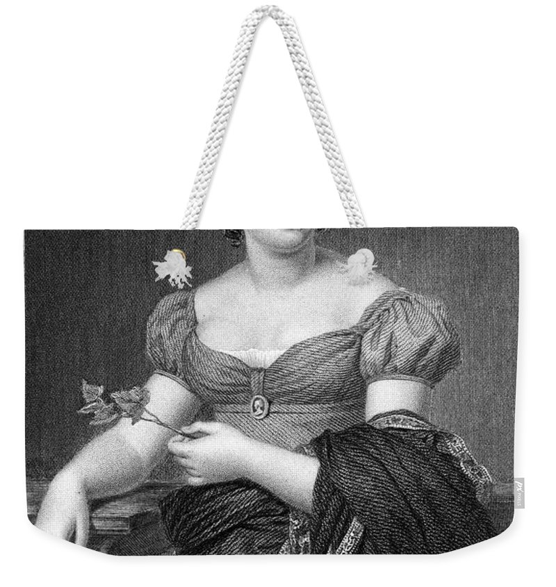 18th Century Weekender Tote Bag featuring the photograph Madame De Sta�l (1766-1817) by Granger