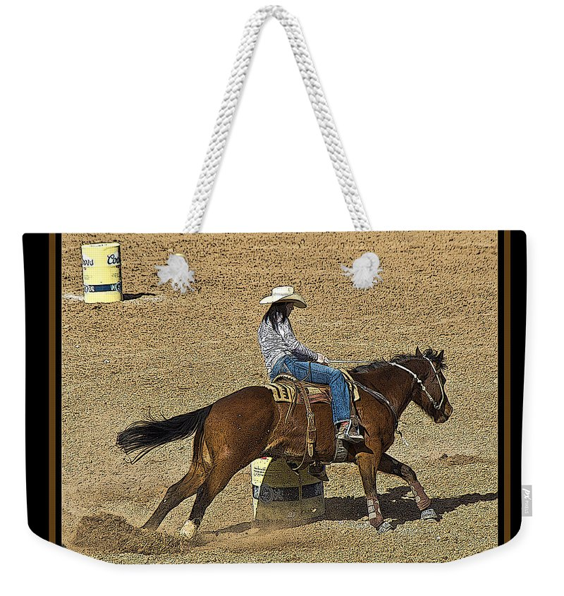 Rodeo Weekender Tote Bag featuring the photograph Made It by Larry White