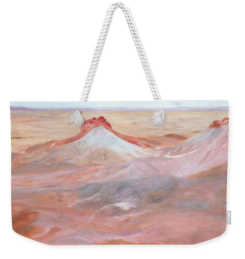Oil Weekender Tote Bag featuring the painting Magic Of The Breakaways 2 2012 by Alex Mortensen