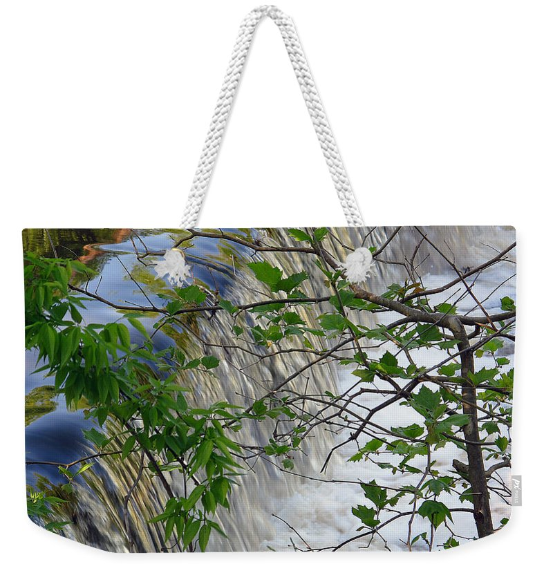 Waterfall Weekender Tote Bag featuring the photograph Magical Falls H by Dulce Levitz