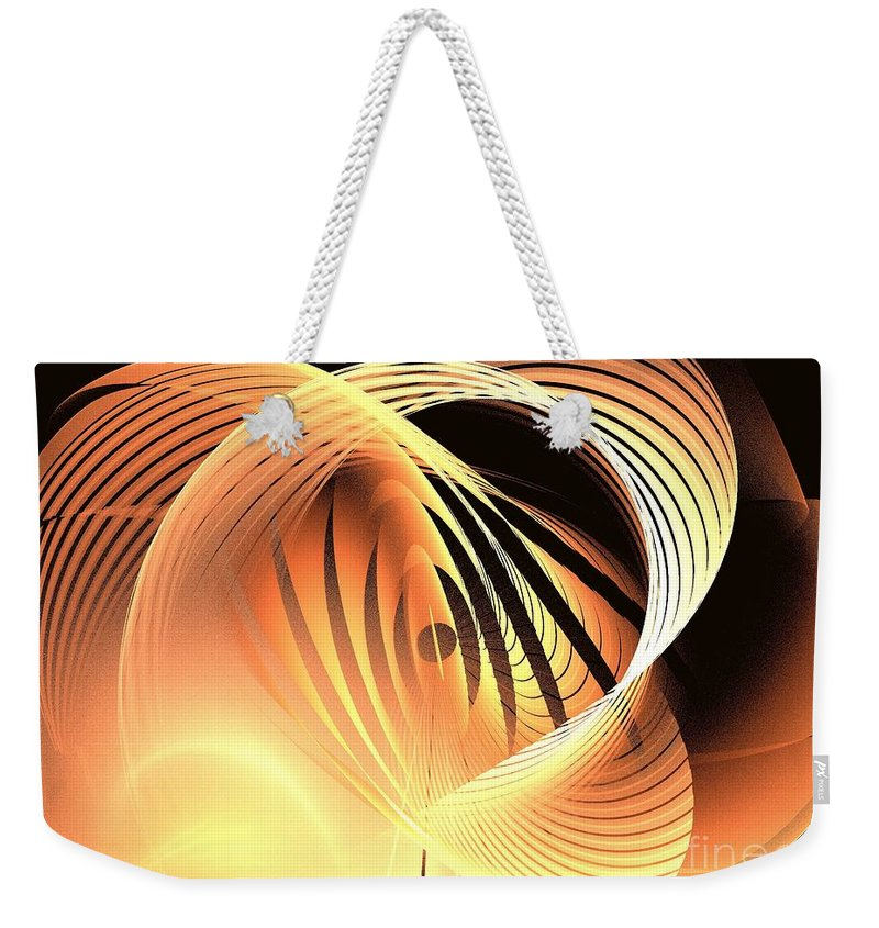 Apophysis Weekender Tote Bag featuring the digital art Magnitude by Kim Sy Ok