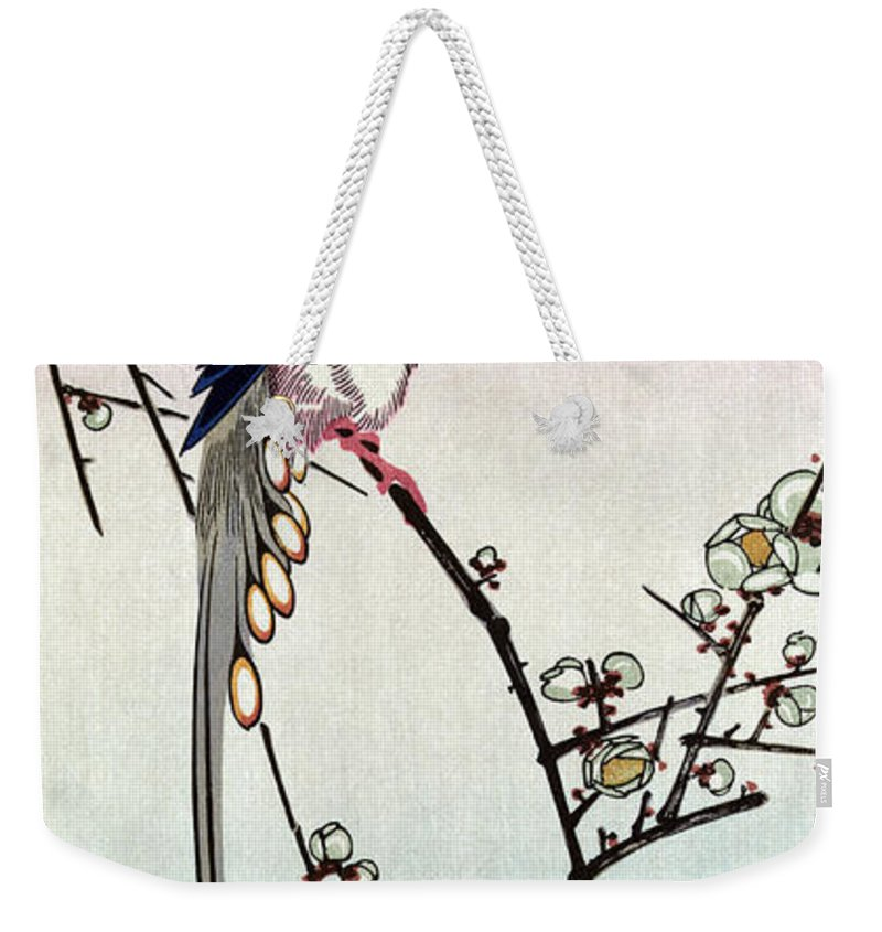 19th Century Weekender Tote Bag featuring the photograph Magpie, 19th Century by Granger