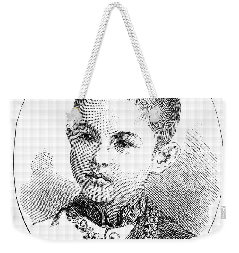 1887 Weekender Tote Bag featuring the photograph Maha Vajirunhis by Granger