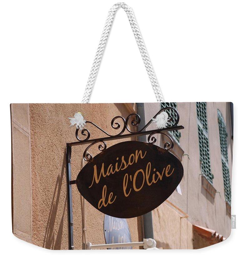 Maison De L'olive Weekender Tote Bag featuring the photograph Maison De L'olive by Dany Lison