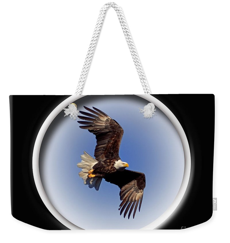 Color Photography Weekender Tote Bag featuring the photograph Majestic Flight by Sue Stefanowicz