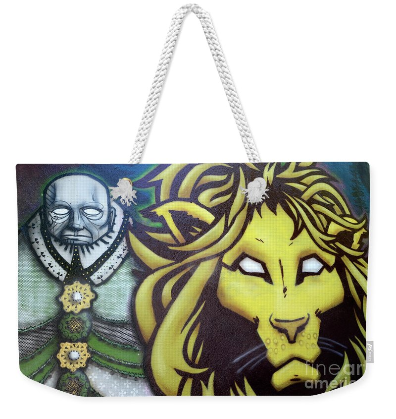 Graffiti Weekender Tote Bag featuring the photograph Man And Beast by Bob Christopher
