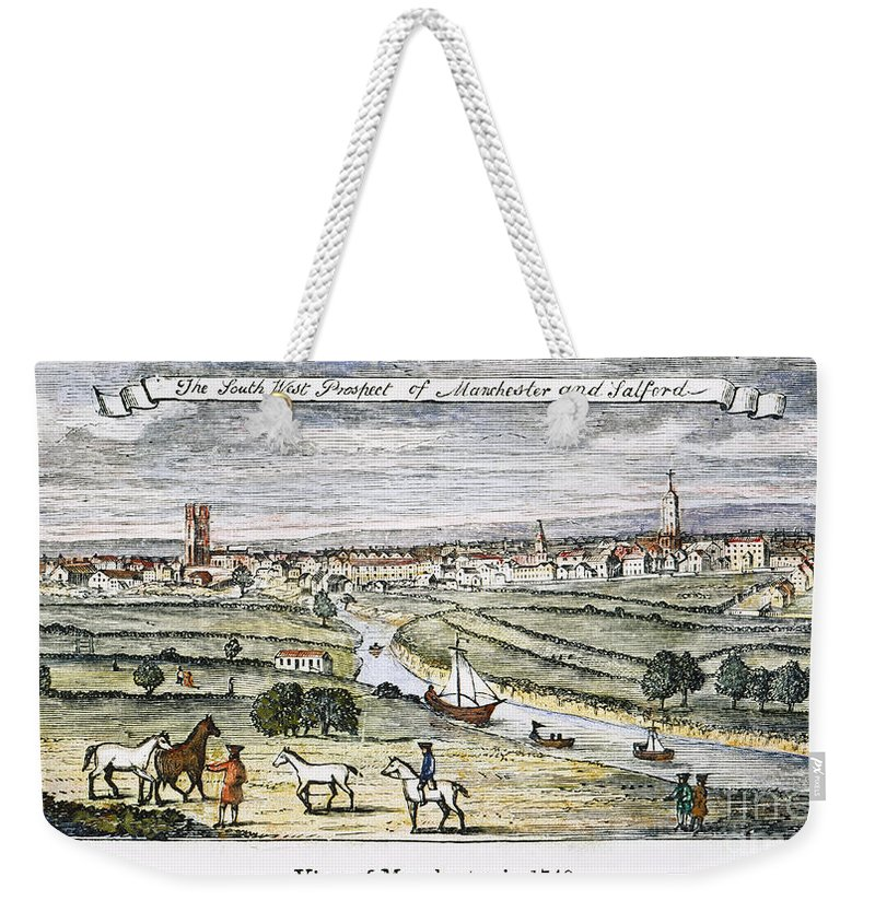 1740 Weekender Tote Bag featuring the photograph Manchester, England, 1740 by Granger
