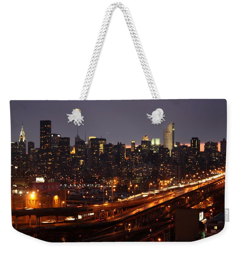 Manhattan Weekender Tote Bag featuring the photograph Manhattan- 2 by Mark Ashkenazi