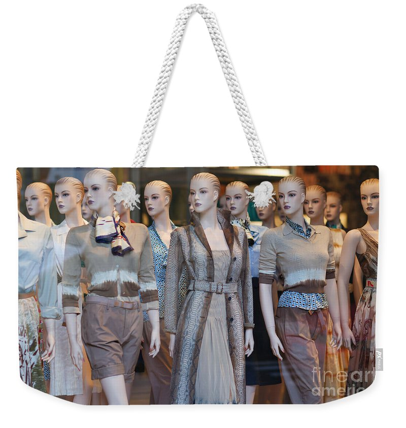 Clarence Holmes Weekender Tote Bag featuring the photograph Mannequins I by Clarence Holmes