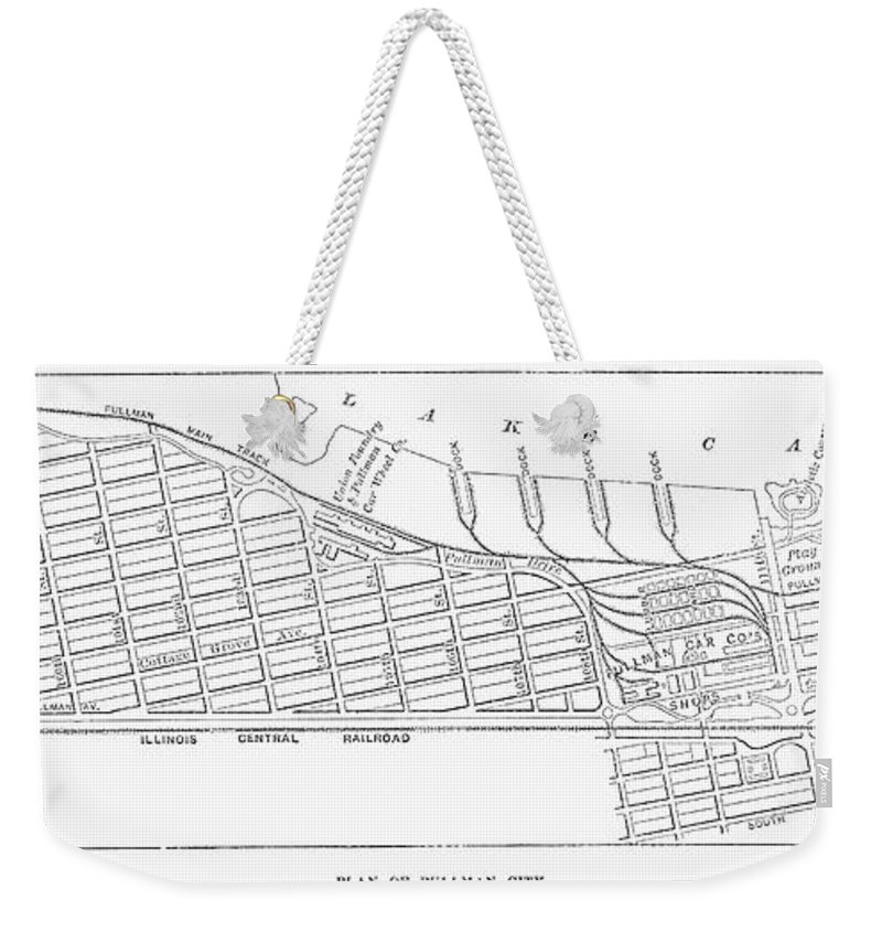 1885 Weekender Tote Bag featuring the photograph Map: Pullman, C1885 by Granger