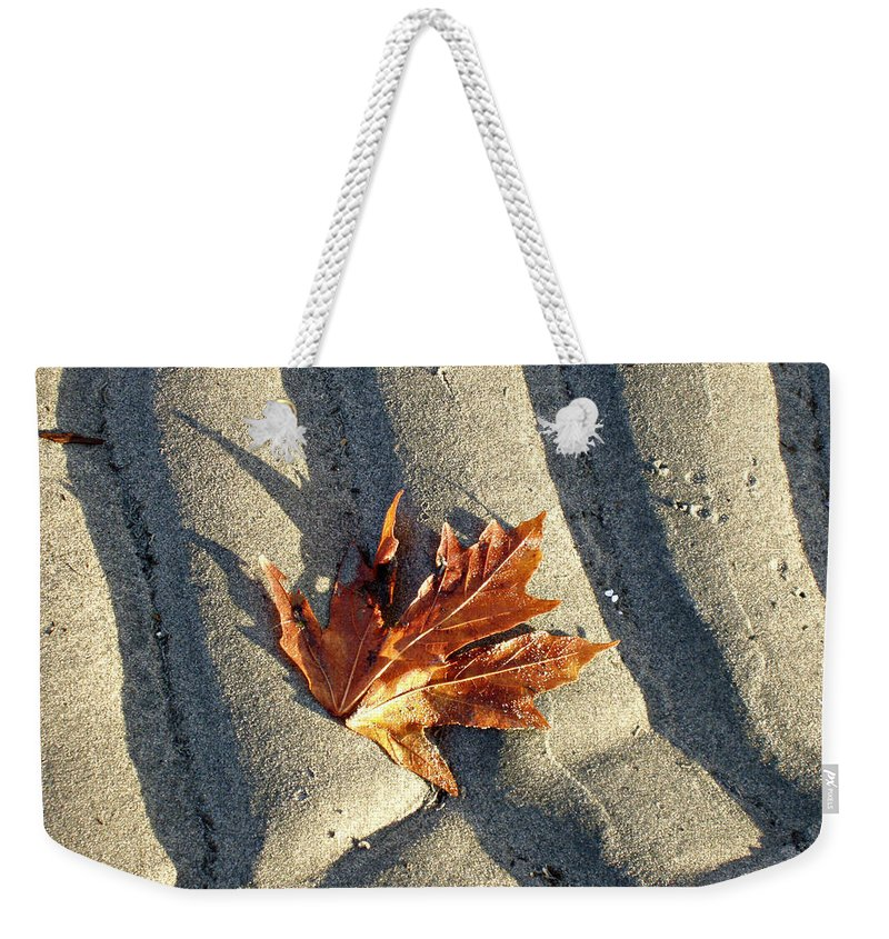 Maple Leaf Weekender Tote Bag featuring the photograph Maple Leaf Forever by Marilyn Wilson