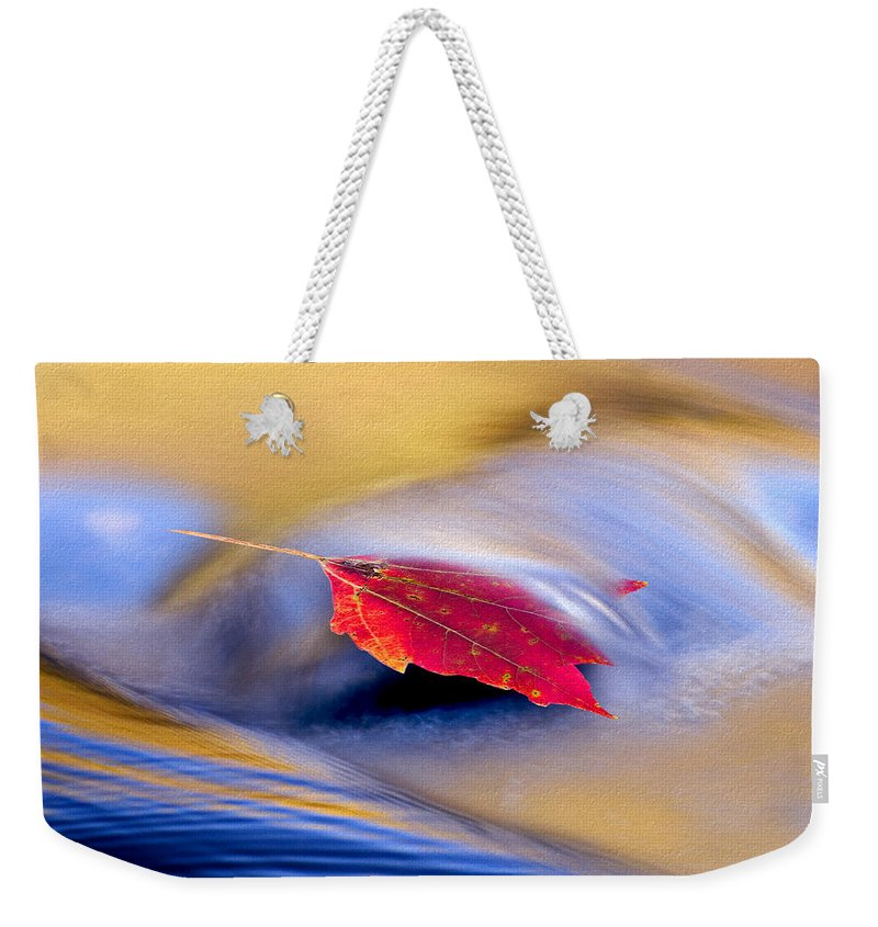Ron Jones Weekender Tote Bag featuring the photograph Maple Stream by Ron Jones