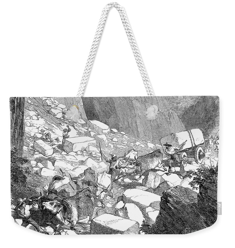 1852 Weekender Tote Bag featuring the photograph Marble: Quarry, 1852 by Granger