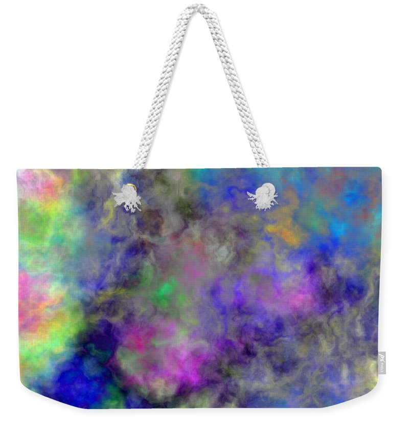 Digital Clouds Weekender Tote Bag featuring the digital art Marbled Clouds by Christy Leigh