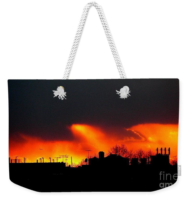 Sunset Weekender Tote Bag featuring the photograph March 1 2008 by Mark Gilman
