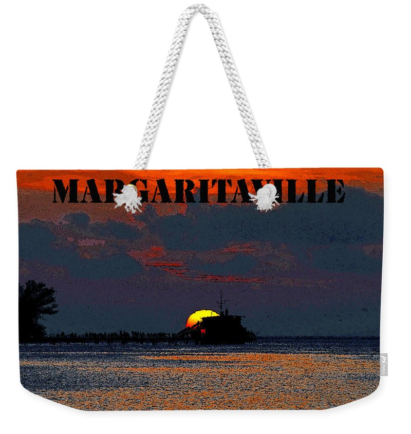 Art Weekender Tote Bag featuring the painting Margaritaville by David Lee Thompson