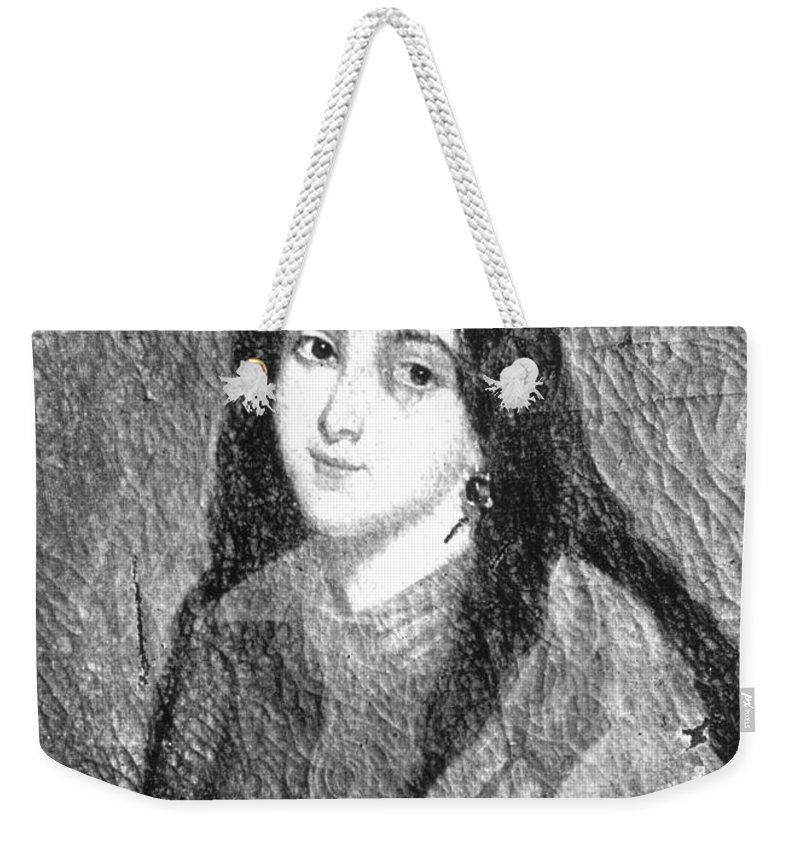 19th Century Weekender Tote Bag featuring the painting Marie Duplessis by Granger