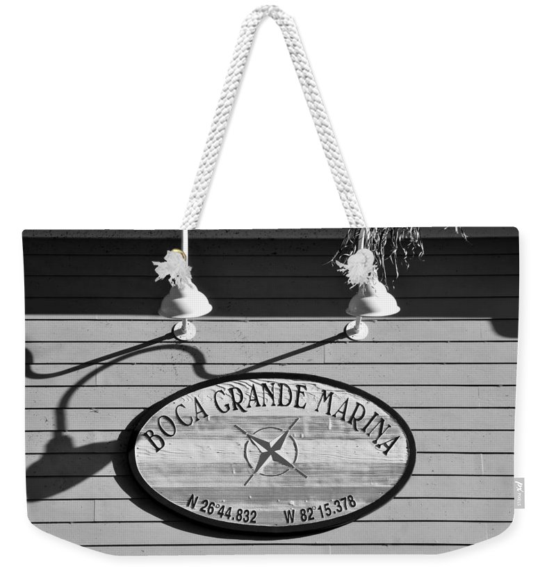 Fine Art Photography Weekender Tote Bag featuring the photograph Marina Directions by David Lee Thompson