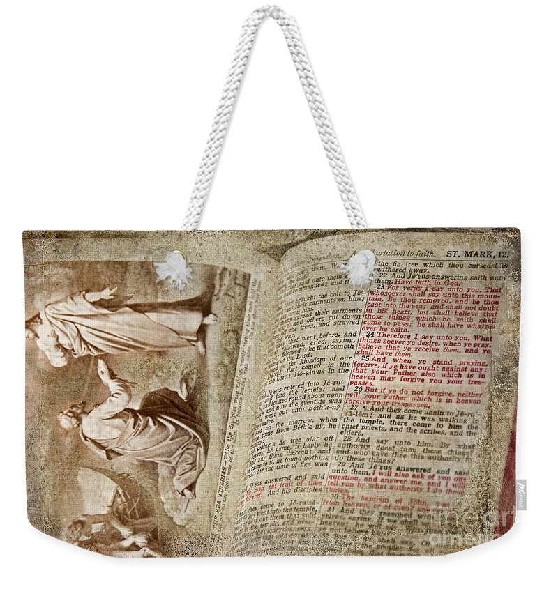 Bible Weekender Tote Bag featuring the photograph Mark 12 by David Arment