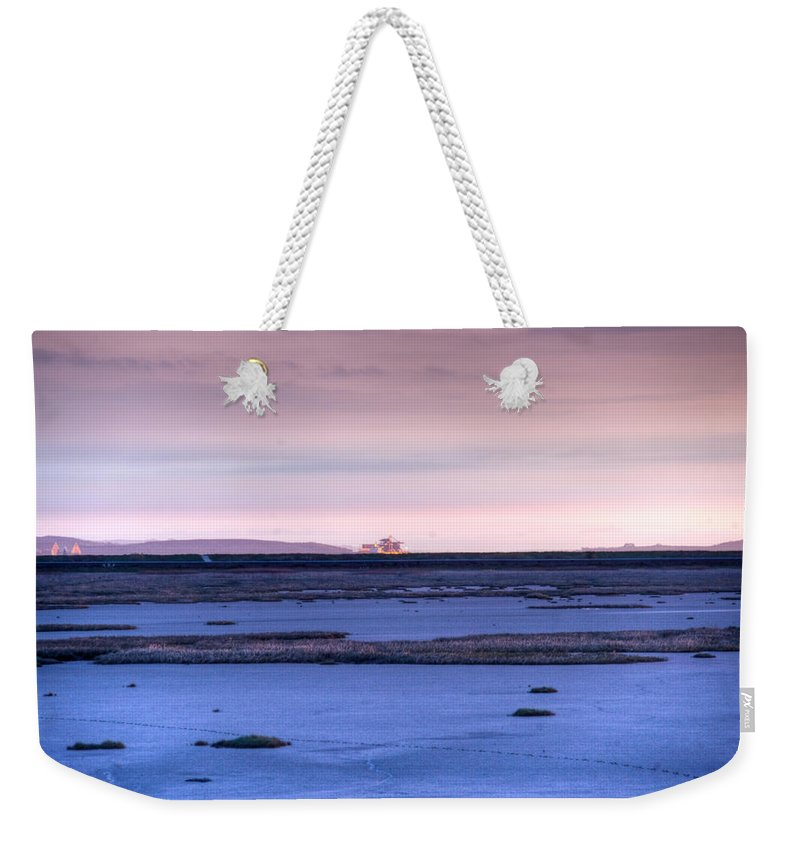 Bay Weekender Tote Bag featuring the photograph Martian Outpost Abandoned Zone by Douglas Barnett
