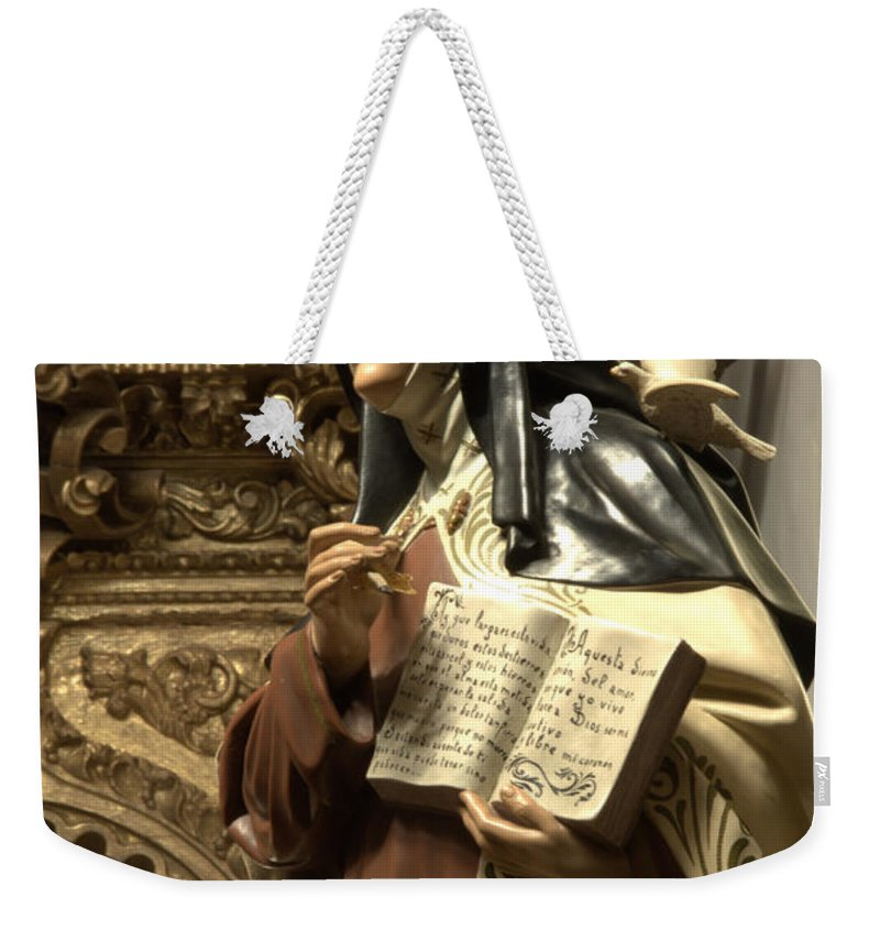 Architecture Weekender Tote Bag featuring the photograph Mary Figure by Bob Christopher