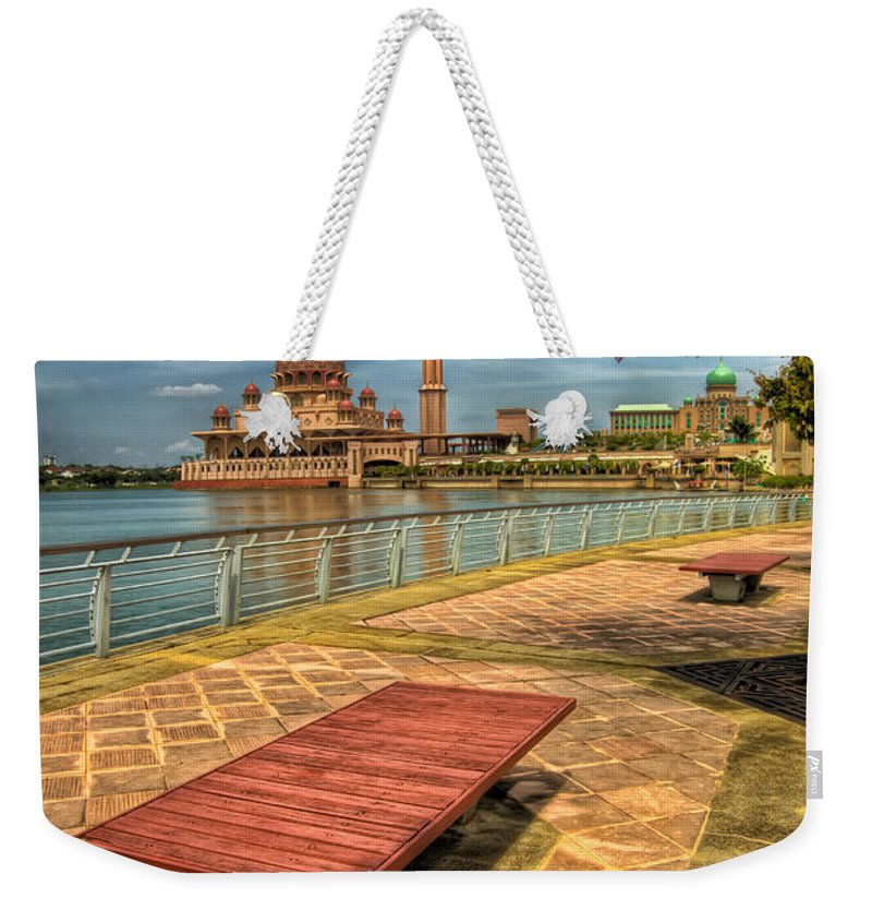 Architecture Weekender Tote Bag featuring the photograph Masjid Putra by Adrian Evans