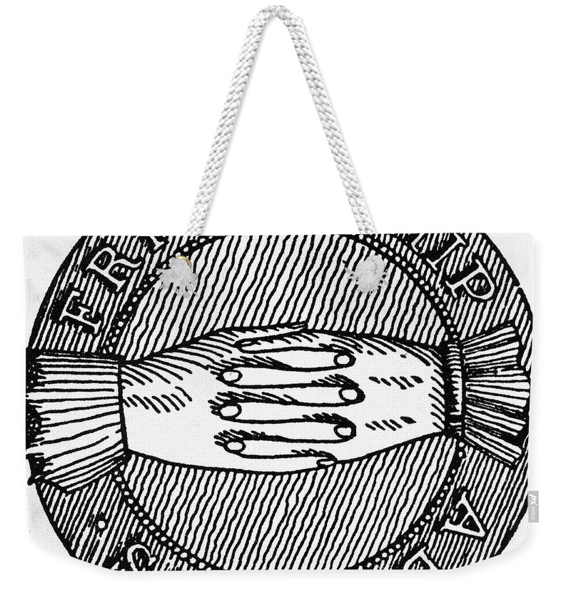 18th Century Weekender Tote Bag featuring the photograph Masonic Symbol by Granger