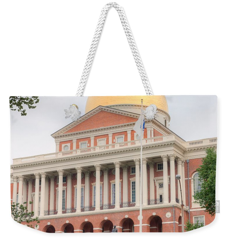Clarence Holmes Weekender Tote Bag featuring the photograph Massachusetts State House I by Clarence Holmes