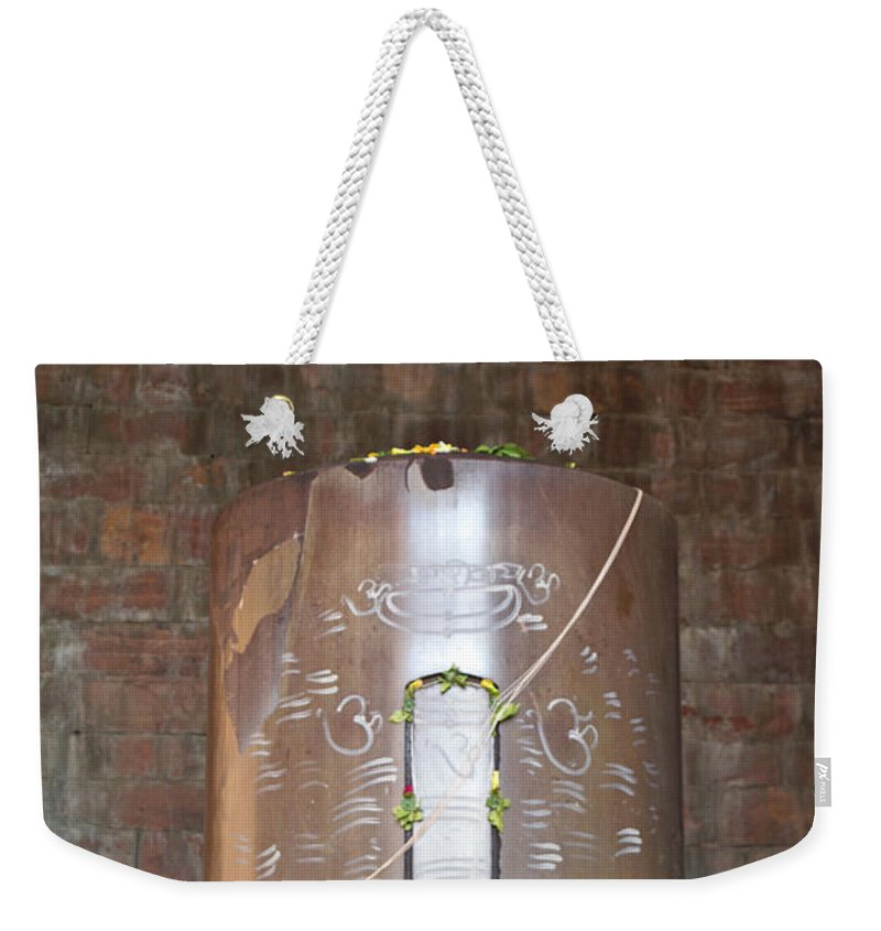 Shiv Weekender Tote Bag featuring the photograph Massive Shiv Lingam Bhojpura by Ashish Agarwal