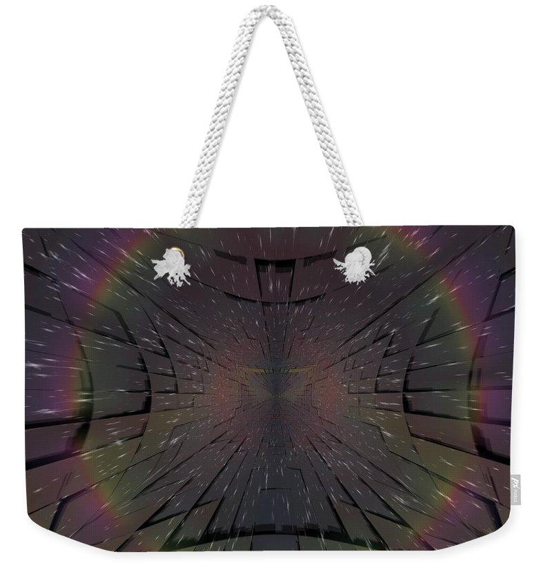 Matrix Weekender Tote Bag featuring the digital art Matrix by Tim Allen