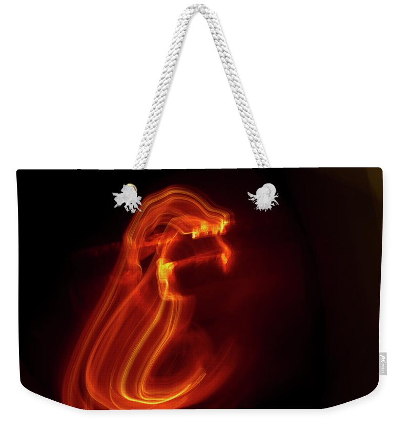 Abstract Weekender Tote Bag featuring the photograph Maw by Gary Eason