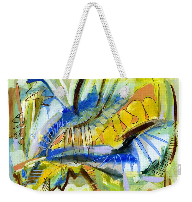 Abstract Weekender Tote Bag featuring the painting Meadow by Lynne Taetzsch