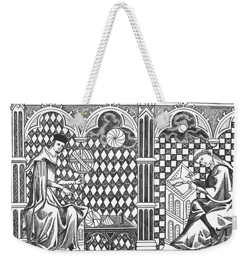 13th Century Weekender Tote Bag featuring the photograph Medieval Mathematicians by Granger